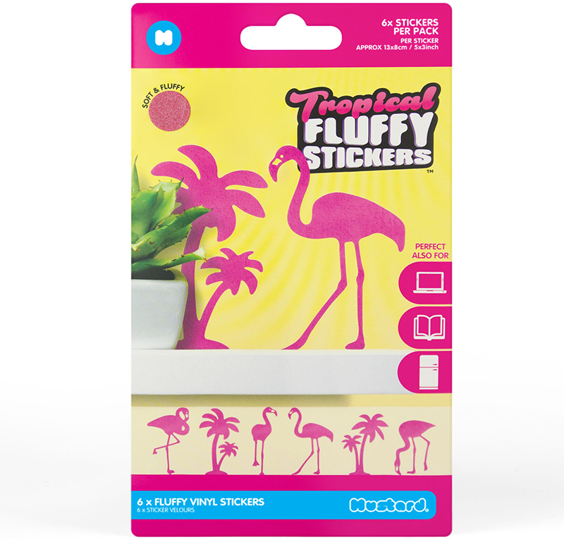 Fluffy Stickers Tropical