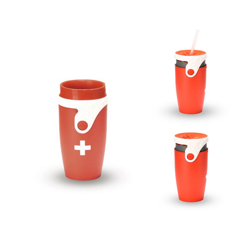 Neolid mug isotherme twizz montana rouge blanc mugs for Mug isotherme micro onde