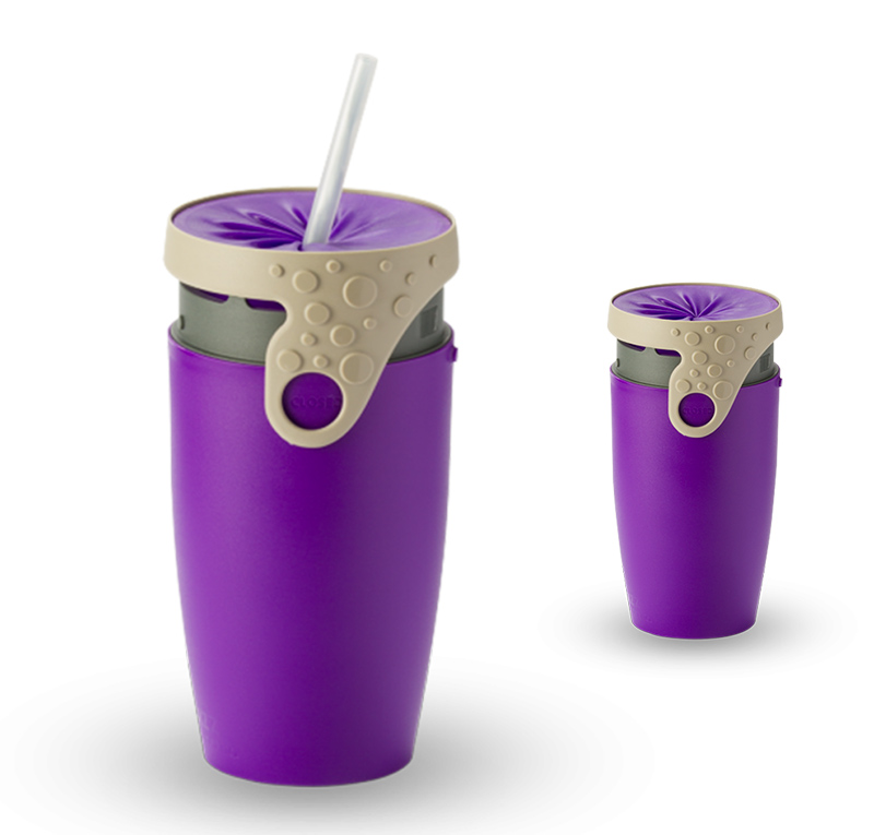 Neolid mug isotherme twizz robin violet gris mugs unis for Mug isotherme micro onde