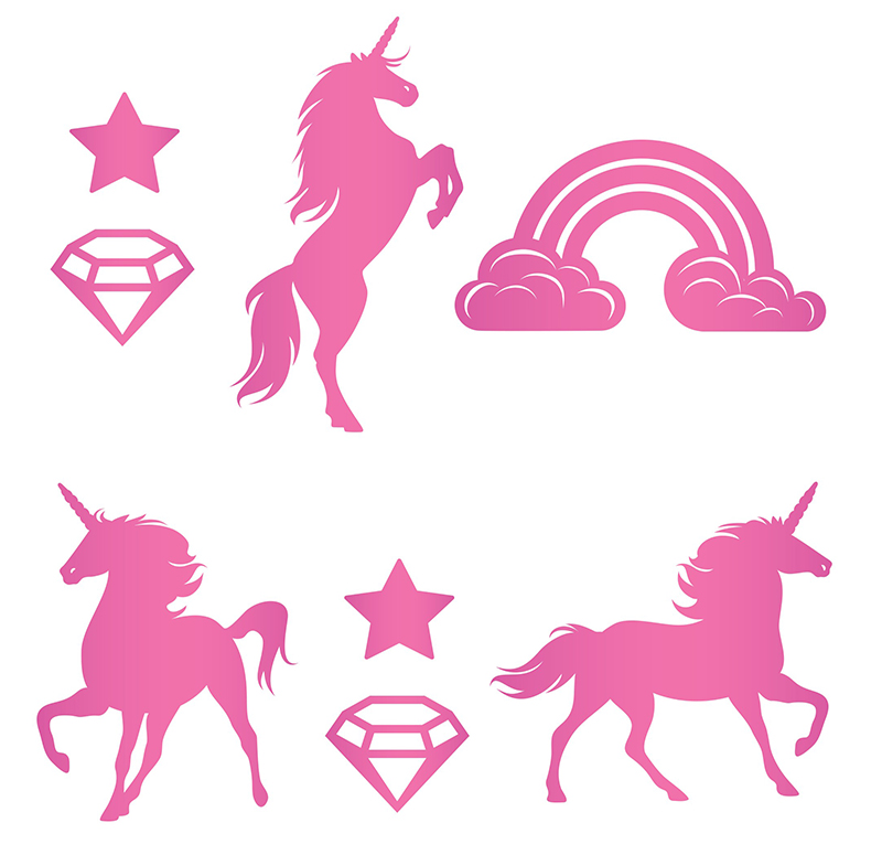 Fluffy Stickers Unicorns