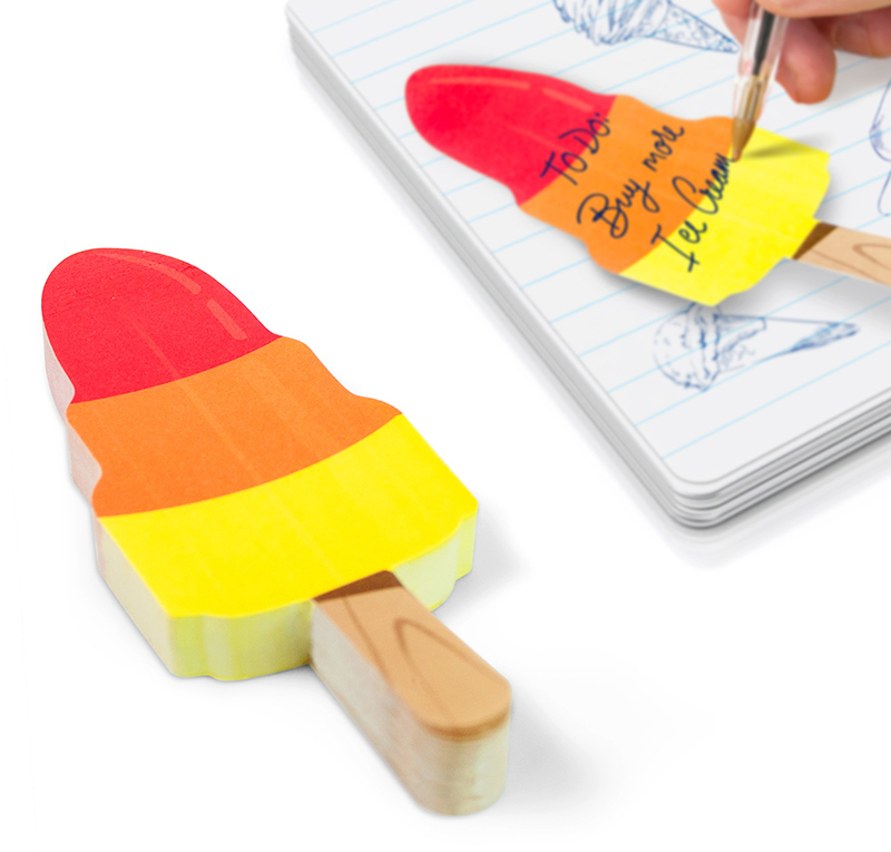 Ice Cream Cool Sticky Notes Rocket