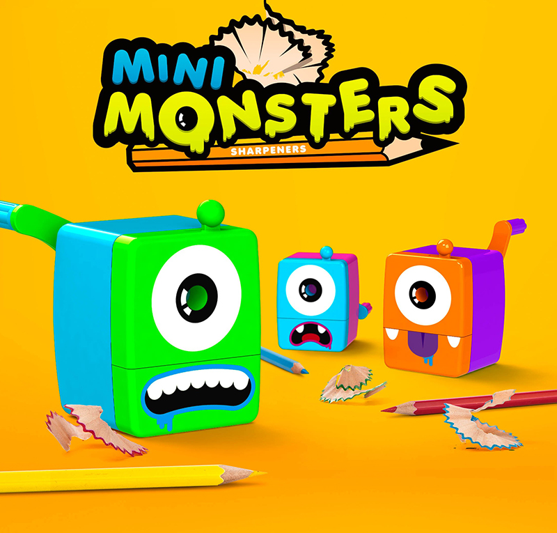 Mini Monsters Sharpeners Green