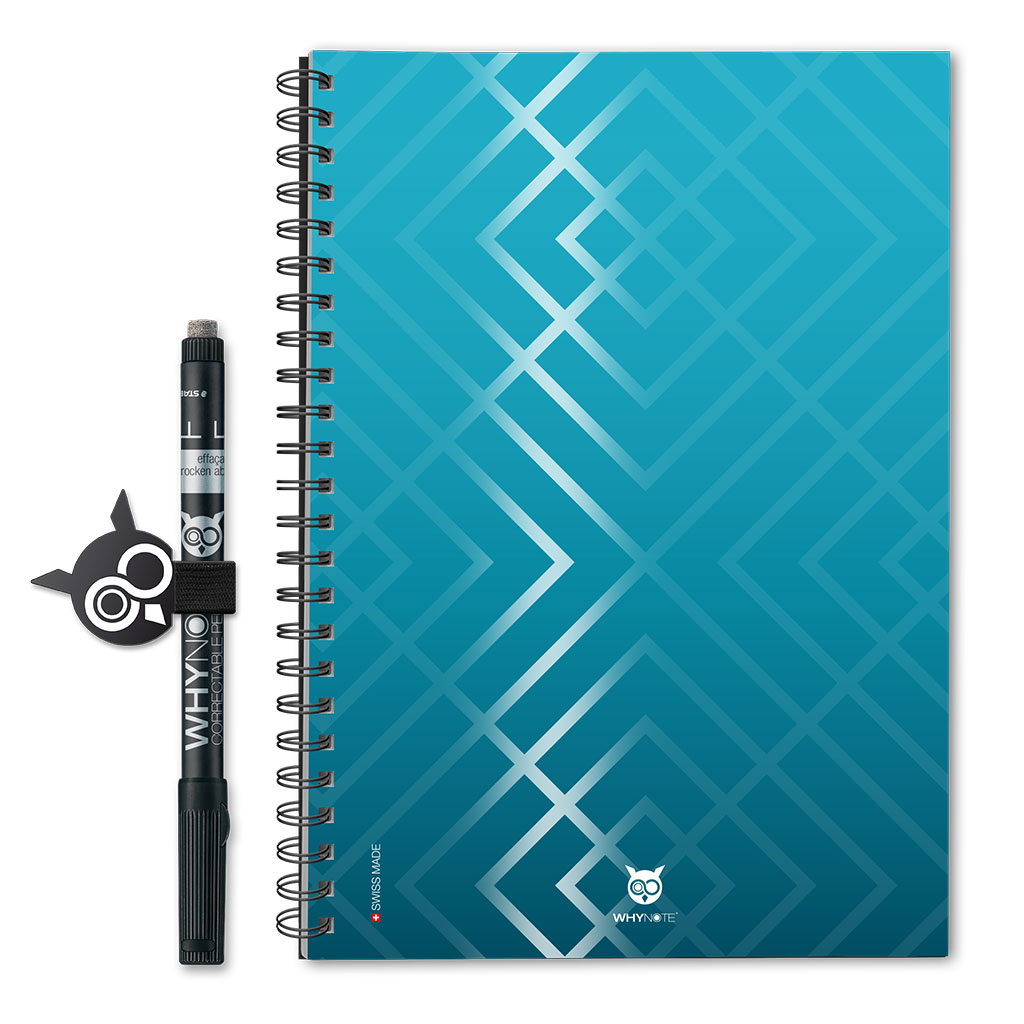 Whynote Book Eco - A5 - Gloss Pattern Blue Whynote Book Eco - A5 - Gloss Pattern Blue