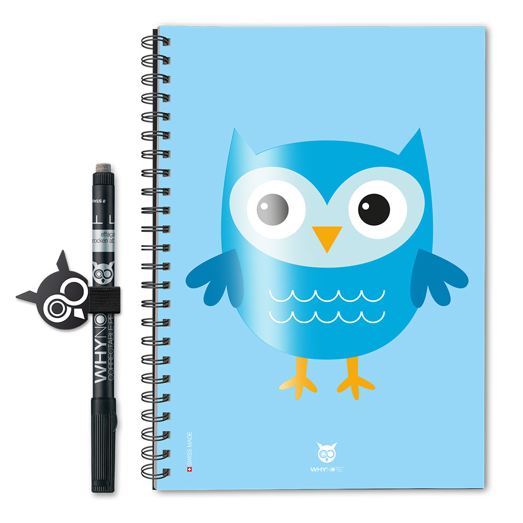 Whynote Book Eco - A5 - Cartoon Owl Blue Whynote Book Eco - A5 - Cartoon Owl Blue