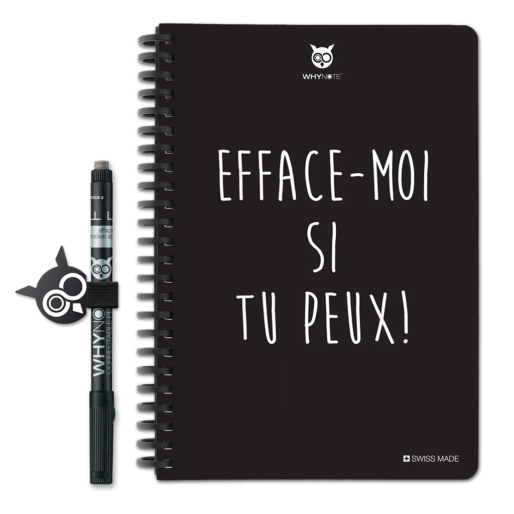 Whynote Book - A5 - Efface-moi si tu peux! Whynote Book - A5 - Efface-moi si tu peux!