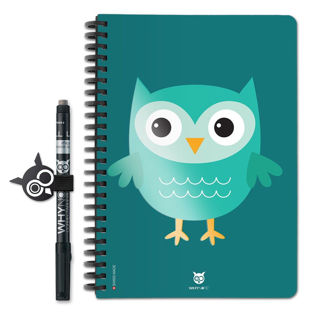 Whynote Book - A5 - Hibou Cartoon Vert Whynote Book - A5 - hibou Cartoon Vert