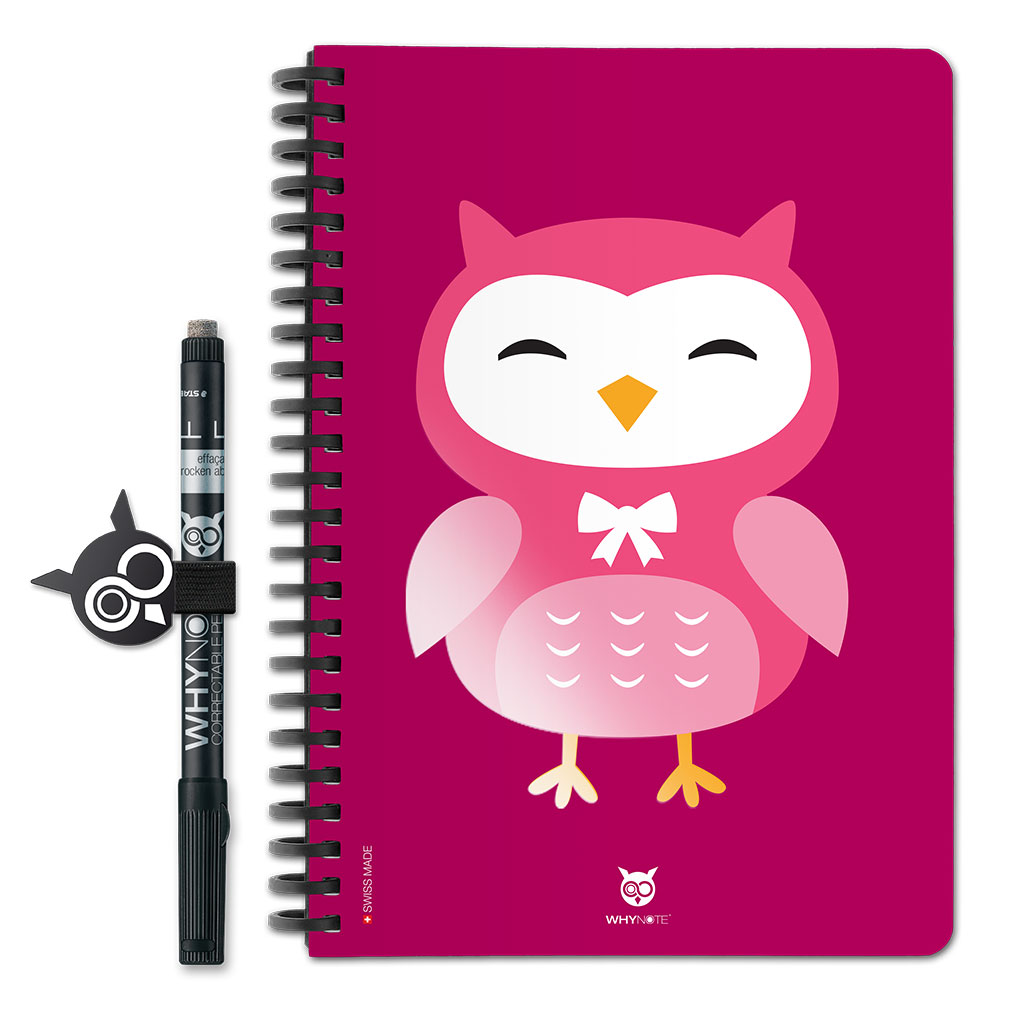 Whynote Book - A5 - Hibou Cartoon Violet Whynote Book - A5 - hibou Cartoon Violet